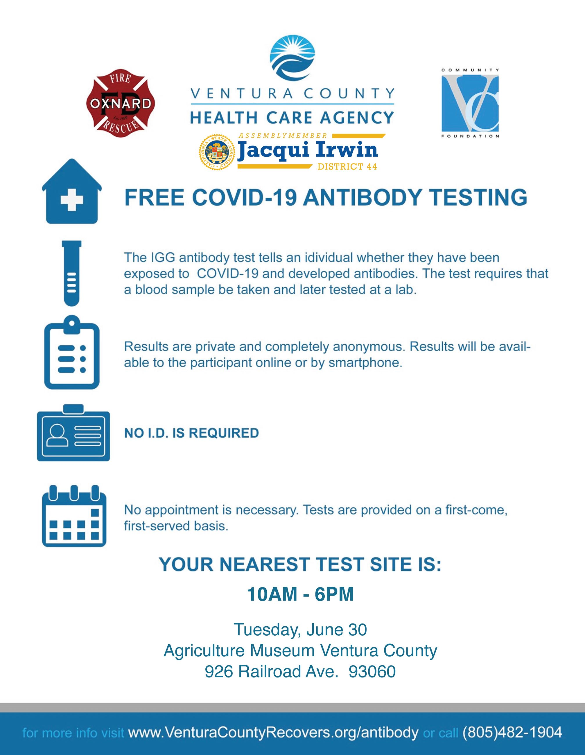 COVID-19 Antibody Testing Flyer English