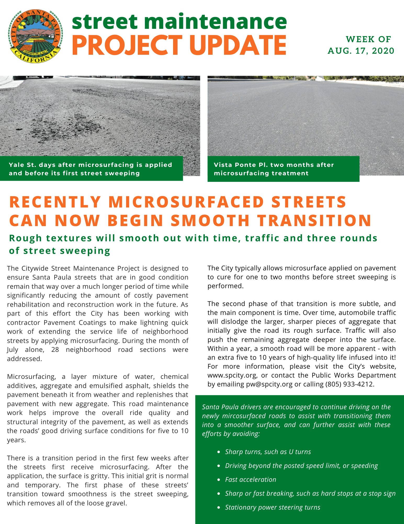 Street Maintenance Project Update Bulletin (English)